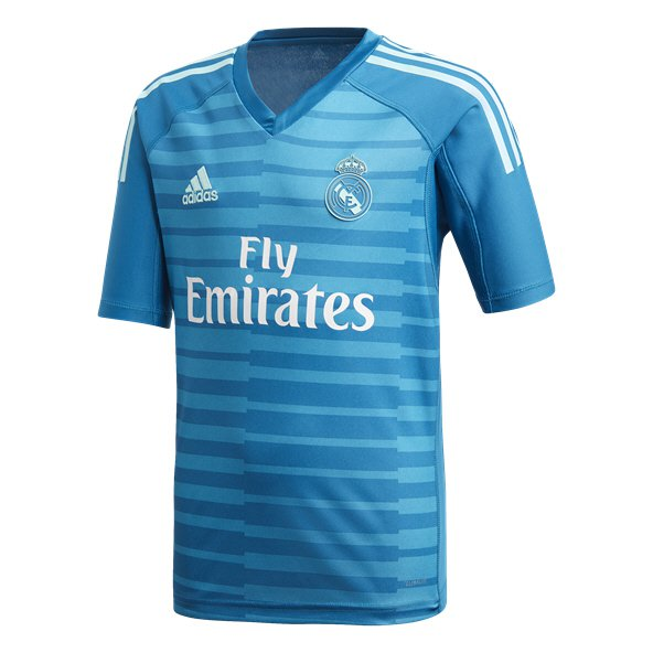 adidas Real Madrid 2018/19 Kids' Away GK Jersey, Blue
