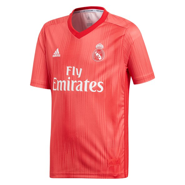 adidas Real Madrid 2018/19 Kids' 3rd Jersey, Red