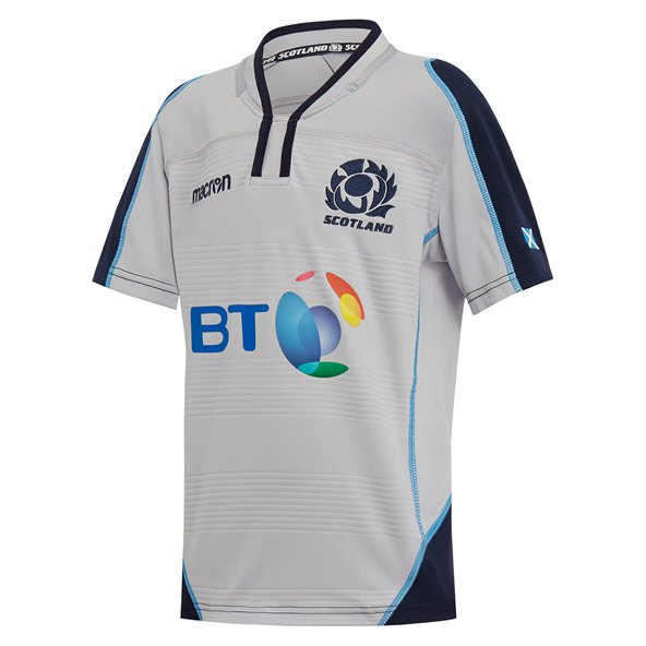 Macron Scotland 18 Away Kids Jersey Grey / Navy