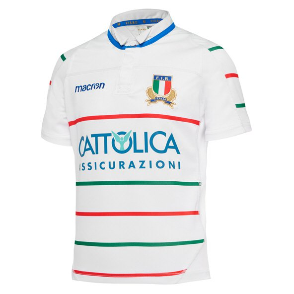 Macron Italy 18 Away Kids Jersey White