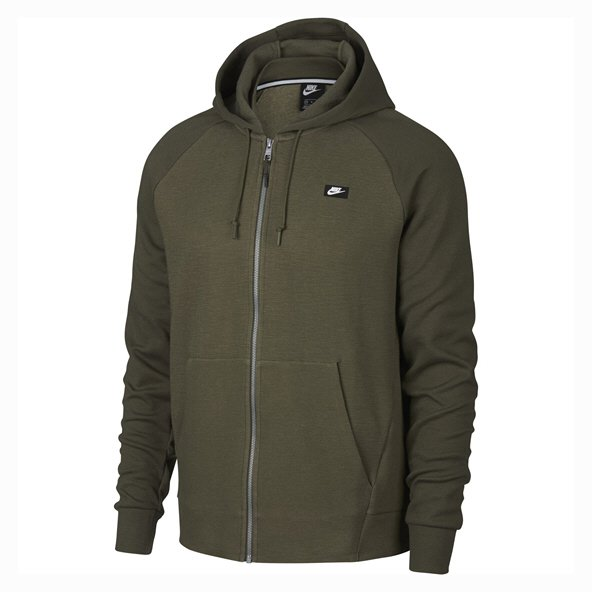Nike Swoosh Optic Mens Full Zip Hoody, Olive