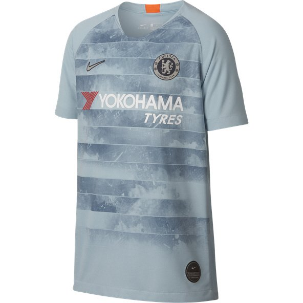 Nike Chelsea 2018/19 Kids' 3rd Jersey, Light Blue
