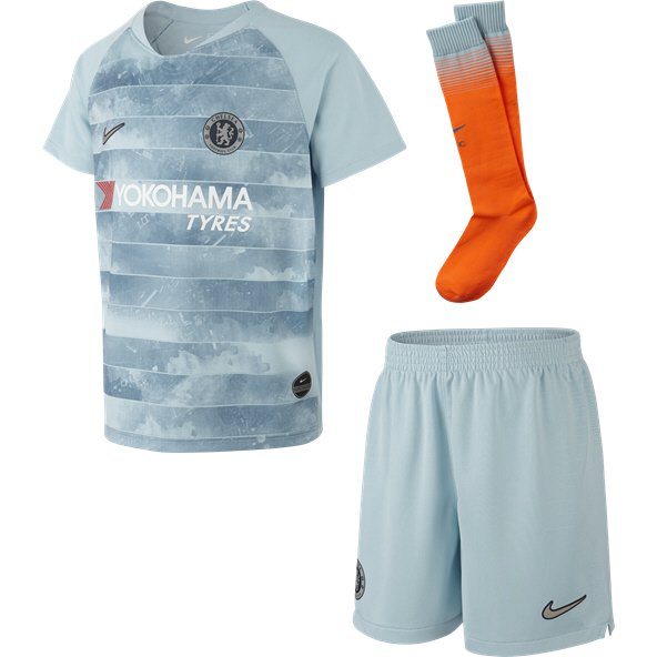 Nike Chelsea 2018/19 Away Mini Kit, Light Blue