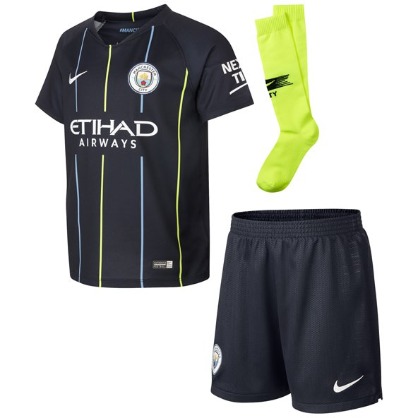 Nike Man City 2018/19 Away Mini Kit, Navy