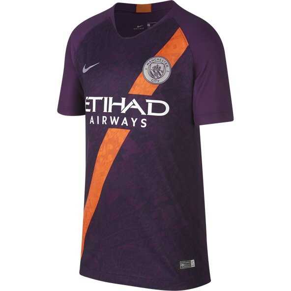 Nike Man City 2018/19 Kids' 3rd Jersey, Purple