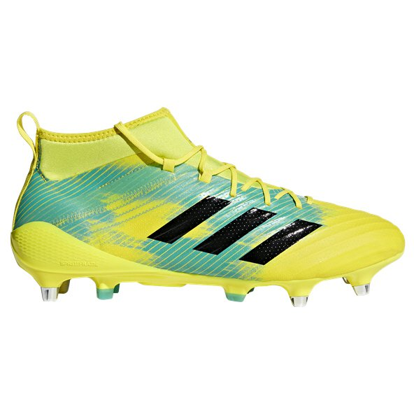 adidas Predator Flare SG Rugby Boot, Yellow