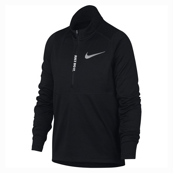 Nike Pacer ½-Zip Boys' Long Sleeved Top, Black