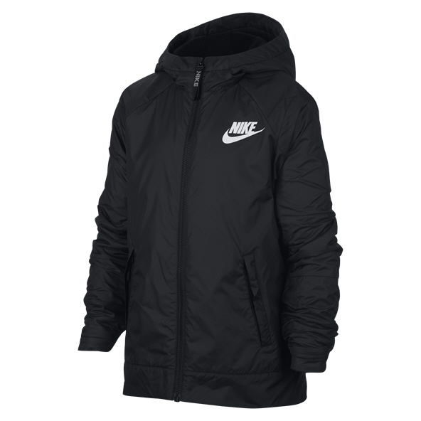 Nike Swoosh Fleece Boys' Jacket, Black