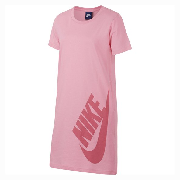 Nike Swoosh Girls' T-Shirt Dress, Pink