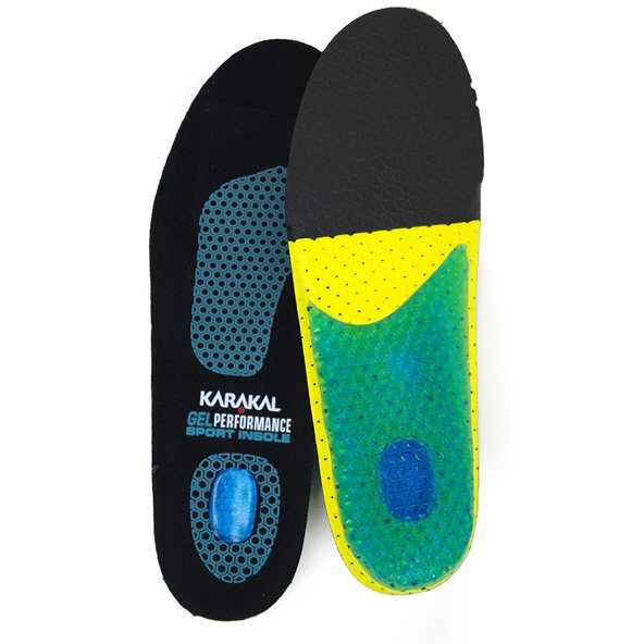Karakal Gel Performance Sport Insole, Black