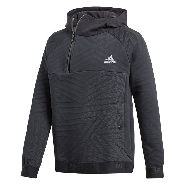 adidas Messi Boys' ½ Zip Hoody, Black
