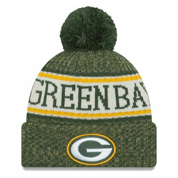 New Era Sideline Bobble Packer Green/Yel