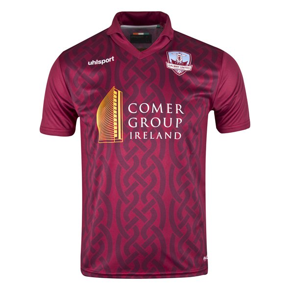 Uhlsport Galway United 2018 Kids' Home Jersey, Maroon