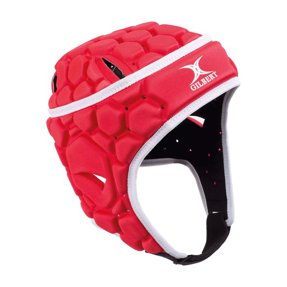 Gilbert Falcon 200 Rugby Headgear, Red