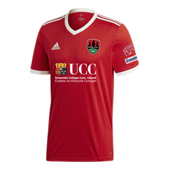 adidas Cork City 2018 Kids' Away Jersey, Red