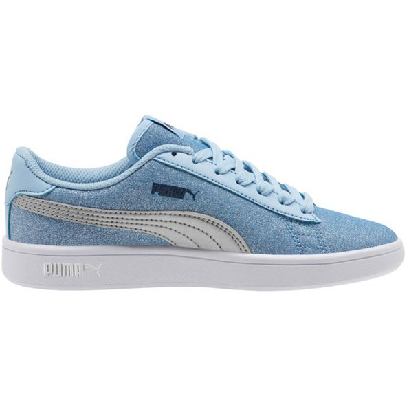 Puma Smash v2 Glitz Glam Girls' Trainer, Blue