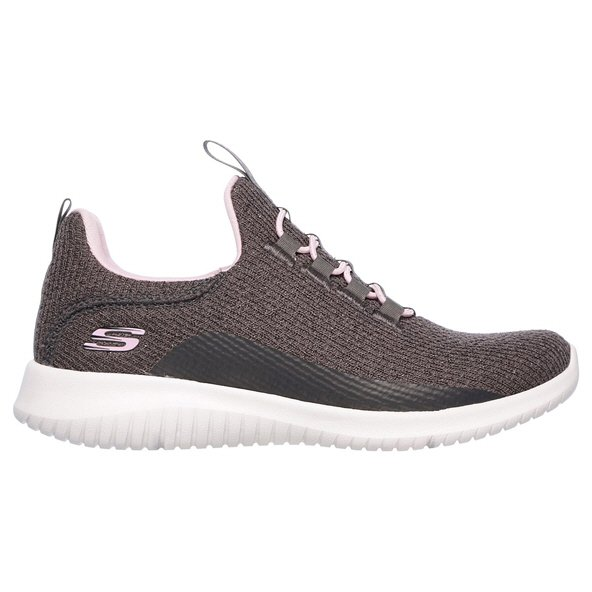 Skechers Ultra Flex Girls' Fitness Shoe, Grey