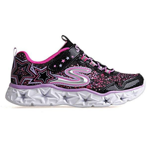Skechers Galaxy Lights Junior Girls' Trainer, Black