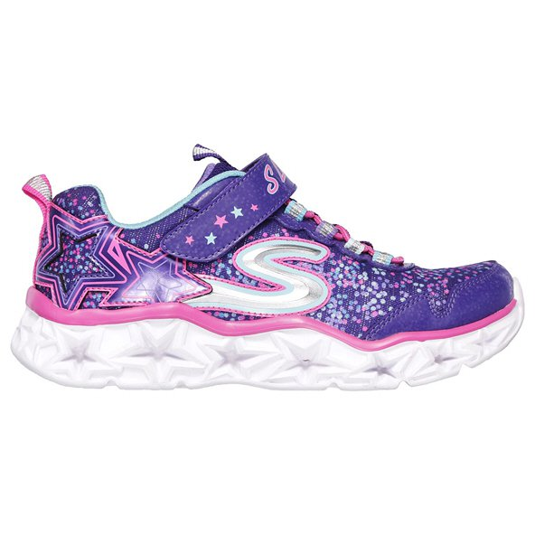 Skechers Galaxy Lights Junior Girls' Trainer, Purple