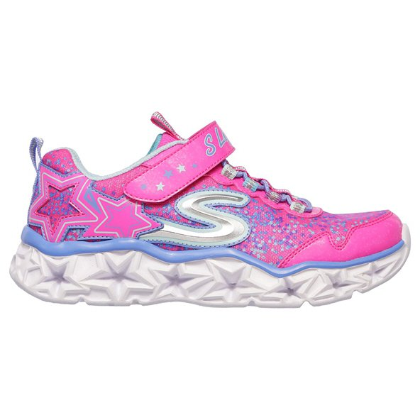 Skechers Galaxy Lights Junior Girls' Trainer, Pink