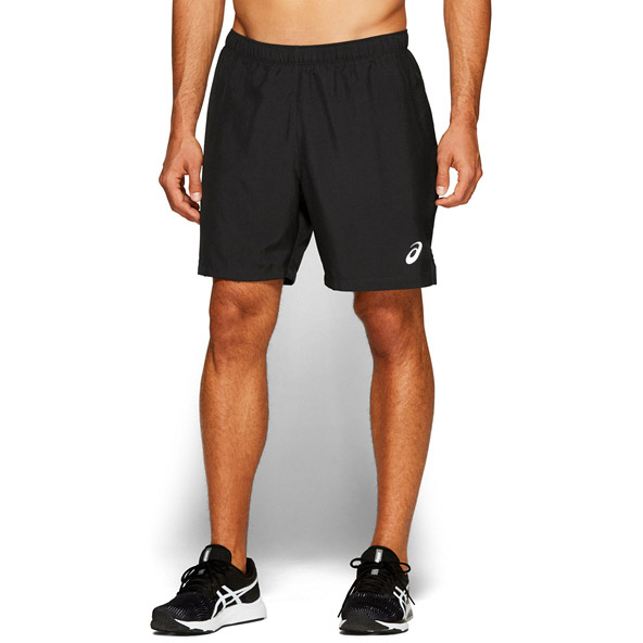 "Asics Silver 7"" 2in1 Mens Shorts Black"