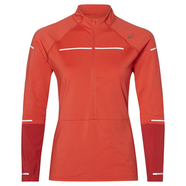 Asics Lite-Show Winter ½-Zip Women's Top, Red
