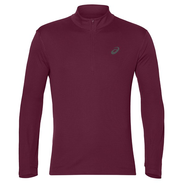 Asics Silver Men's ½ Zip Long Sleeve Running Top Cordvan
