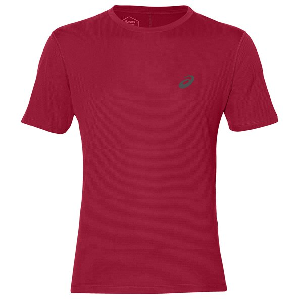 Asics Silver Short Sleeve Men's Running T-Shirt, Red