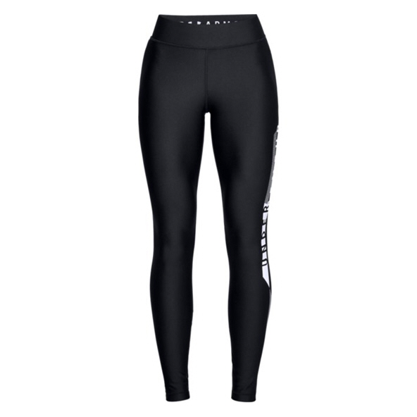UA HG Armour Graphic Wmn Tights  Blk/Wht