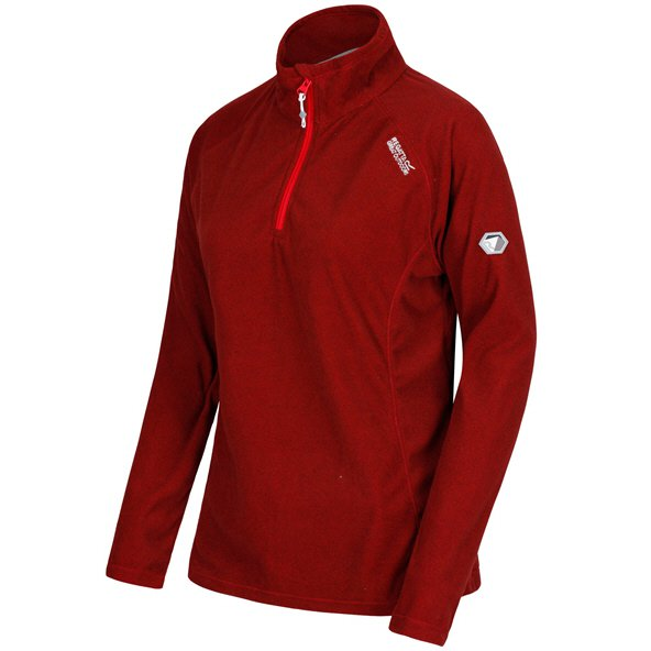 Regatta Montes Women's ¼ Zip Fleece Jacket, Red