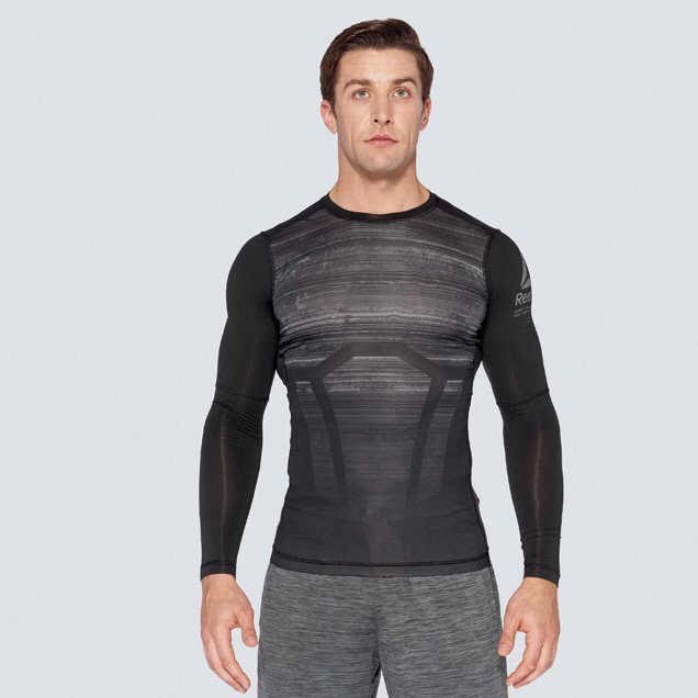 Reebok Workout Compression Men's Top, Black