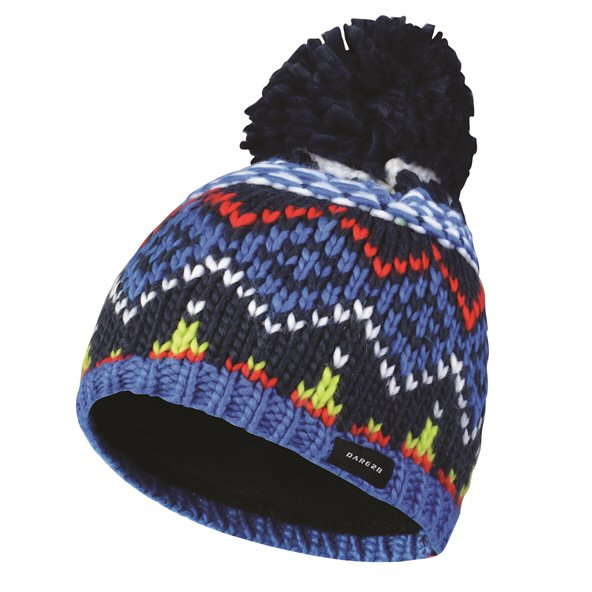 Dare2B Badges Kids' Beanie, Blue