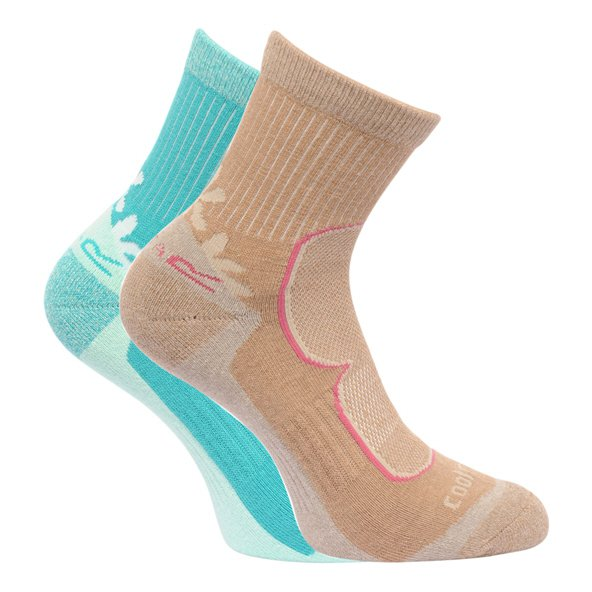 Regatta Active 2 Pair Women's Socks Brown/Gr