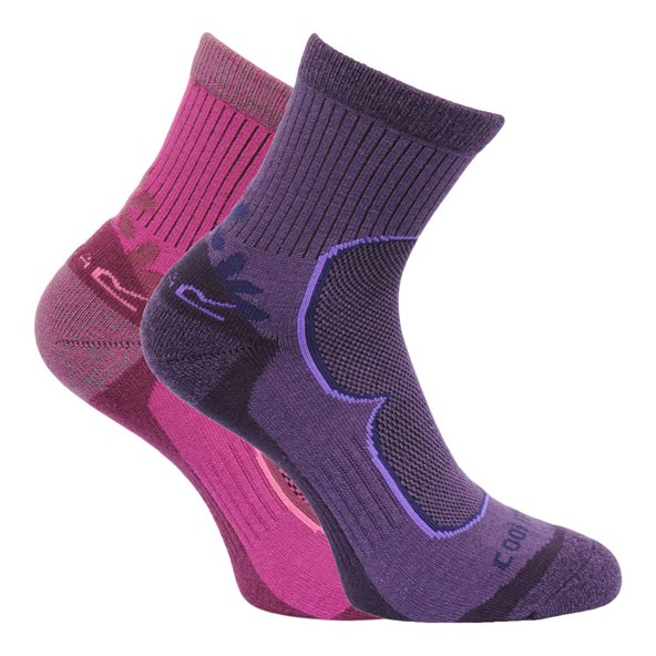 Regatta Active 2 Pair Women's Socks Purp/Lil