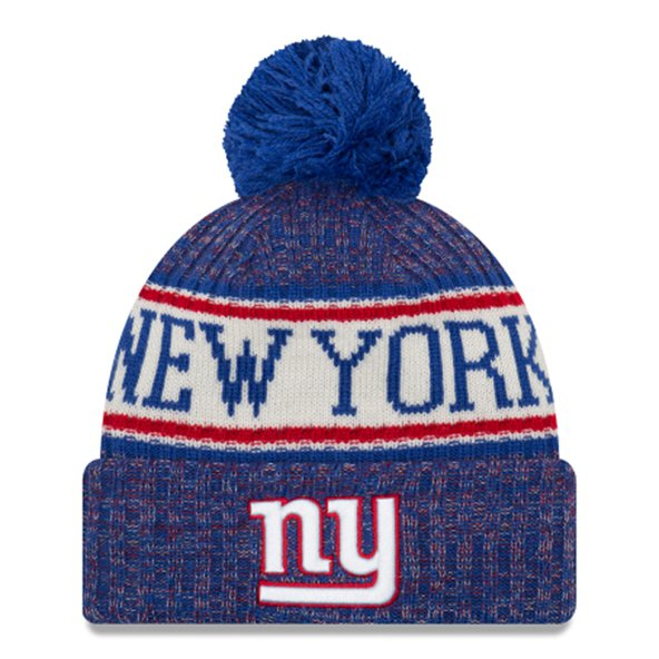 New Era Giants Bobble Knit Hat Blue O/S
