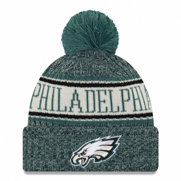 New Era Eagles Bobble Knit Green