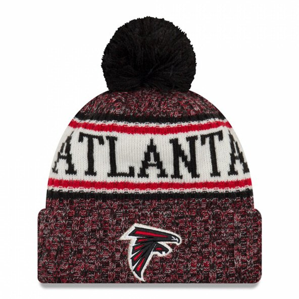 New Era Falcons Bobble Knit Hat Black  O/S