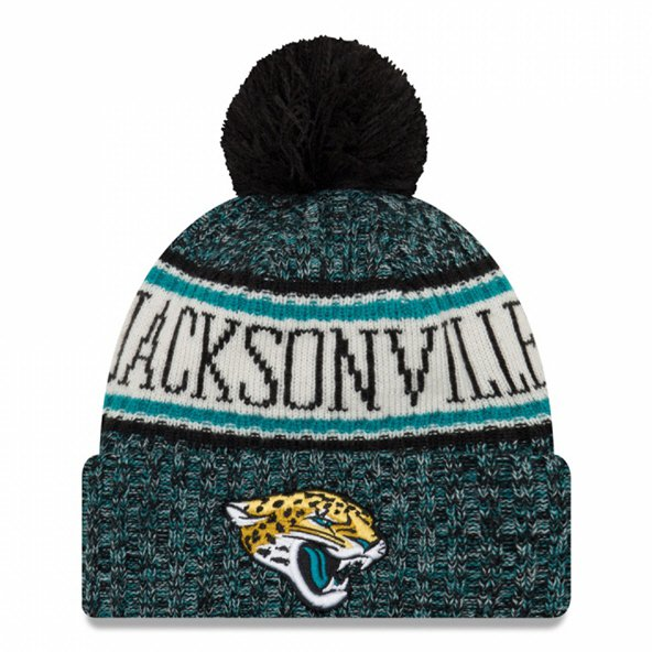 921a7c14080 New Era Jaguars Bobble Knit Hat Black O S