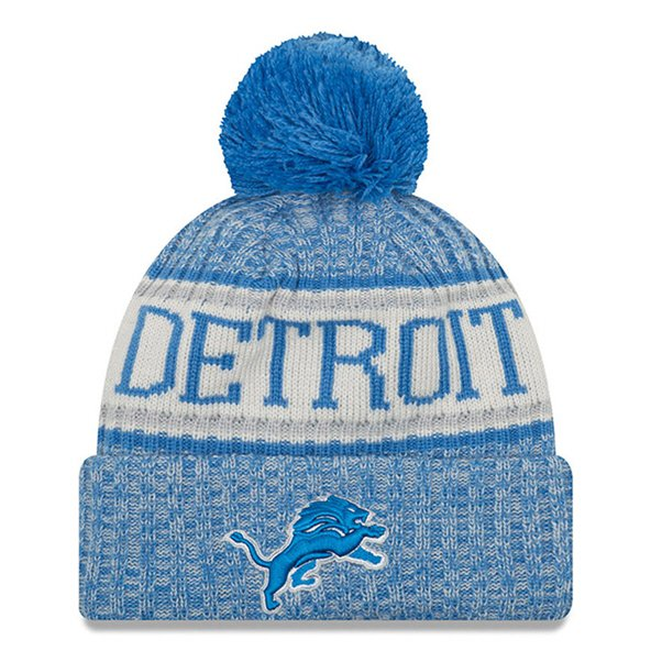 New Era Lions Bobble Knit Blue O/S
