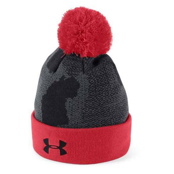 Under Armour® Pom Boys' Beanie, Black