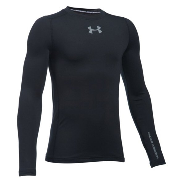 Under Armour® ColdGear® Boys' Crew, Black
