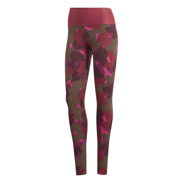 adidas All Over Print Women's Tight, Maroon