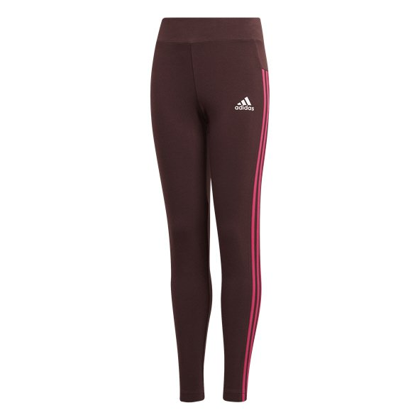 adidas Linear 3 Stripe Girls' Tight, Red