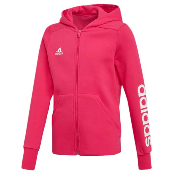 adidas Linear Girls' Full Zip Hoody, Pink