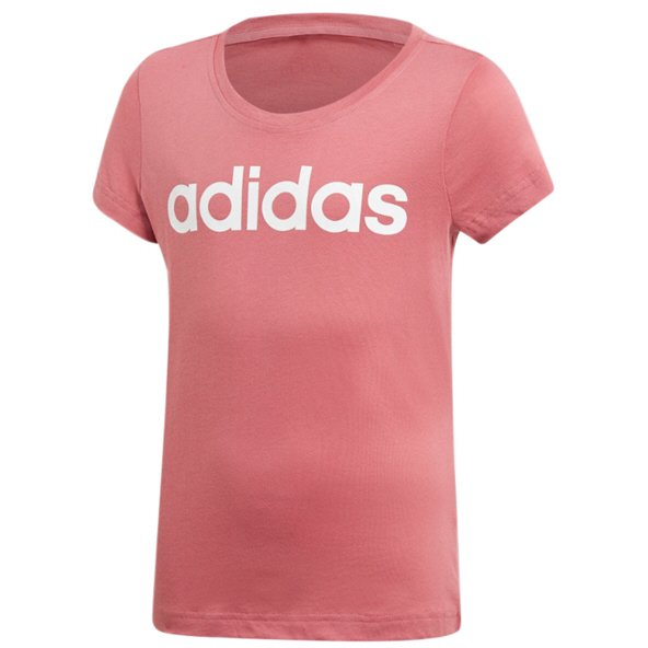 adidas Linear Girls' T-Shirt, Pink