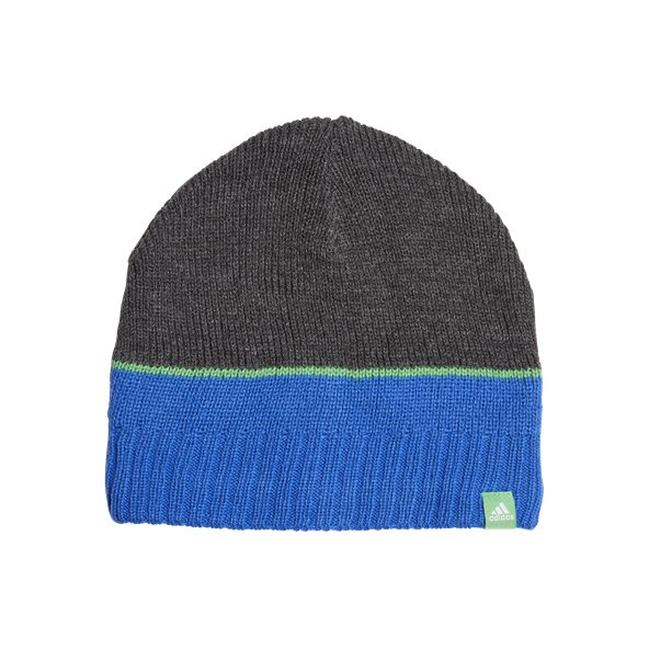 adidas Stripy Kids Beanie Dark Grey/Htr