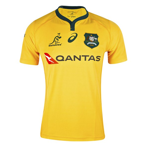 Asics Wallabies 2018 Home Jersey, Yellow