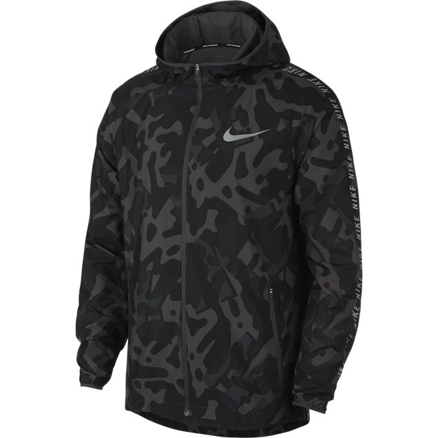 purchase cheap d09eb ef926 ... Nike Essential Flash Mens Jkt Black Grey ...