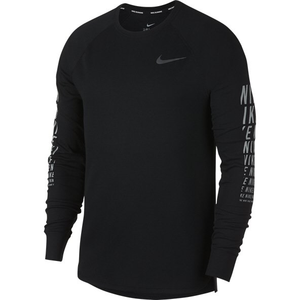 Nike Element Miler Waffle Men's Running T-Shirt, Black