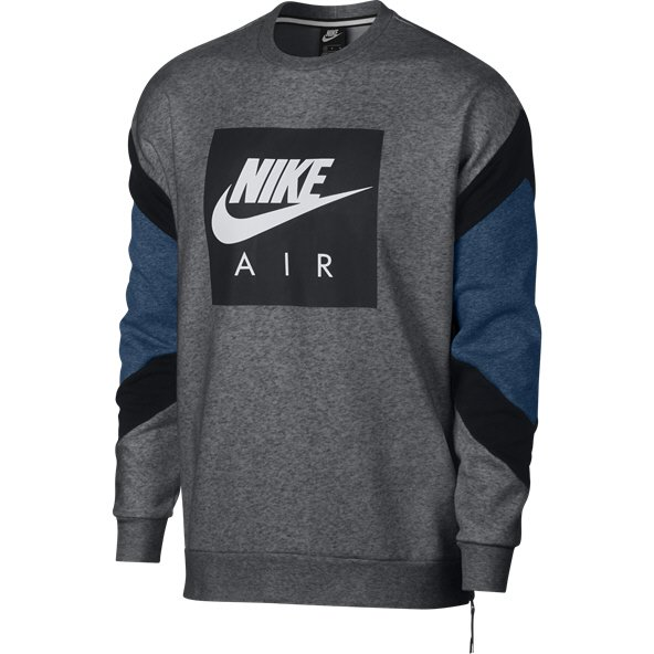 Nike NSW  Air Men's Fleece Crew, Grey